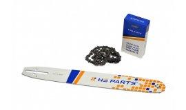 Lišta 40cm + reťaz 56 čl. 3/8 1,3mm + Ozubenie Partner 350 351 370 390 420