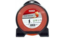 Žací struna oranžová čtverec 2,4 mm x 68m