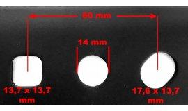 Nôž motorových kosačiek HECHT AVENBERG FIELDMANN VEGA 53cm SO ZBEROM - 50G651BBB0000